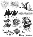 CMS142 Stampers Anonymous Tim Holtz Cling Mounted Stamp Set - Mini Holiday 4 Set